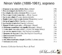 Ninon Vallin, Vol. V     (St Laurent Studio YSL 78-231)