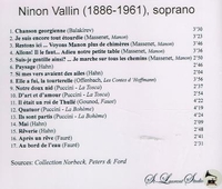 Ninon Vallin, Vol. VI     (St Laurent Studio YSL 78-236)