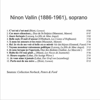 Ninon Vallin, Vol. VII           (St Laurent Studio YSL 78-247)