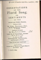 Observations on the Florid Song    (Pier Francesco Tosi)