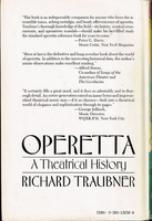 Operetta, a Theatrical History    (Richard Traubner)     0-385-13232-8