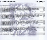 Oscar Braun               (Truesound Transfers 3035)