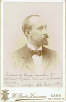 Paladilhe, Émile. 1 signed cabinet photo with gilt trim, H. Boute-Dooreman Studio 4.25x6.5, fine condition  / 1 signed ALS, 1-face, Paris-February 18, 1897, in excellent condition, no foxing or fading, 4.5x7