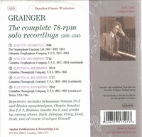 Percy Grainger      (5-Appian APR 7501)