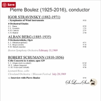 Pierre Boulez, Vol. IV;   Leonard Rose         (St Laurent Studio YSL T-361)