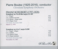 Pierre Boulez, Vol. V   (Schubert)       (St Laurent Studio YSL T-362)