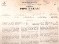 Pipe Dream   (Traubel)  (RCA LOC-1023)   Original Broadway cast LP