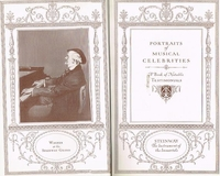 Portraits of Musical Celebrities, 1926 Edition   (Steinway)