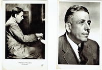 Poulenc, Francis. 2 photo postcards - 1 Marcus Blechman Studio NY (320), 1 Photo Lipnitzki, (320) A.N-Paris, 3.5x5.5