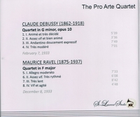 Pro Arte Quartet, Vol. VIII     (St Laurent Studio YSL 78-119)