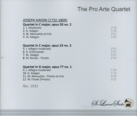 Pro Arte Quartet, Vol. X     (St Laurent Studio YSL 78-221)
