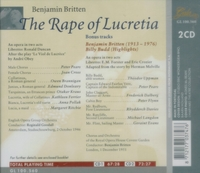 Rape of Lucretia;   Billy Budd  (Britten)        (Goodall;  Otakar Krauss, Ferrier, Peter Pears)  (2-Gala 100.560)