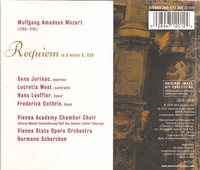 Mozart Requiem in d  -  Scherchen; Jurinac, West, Loeffler, Guthrie  (Westminster 289 471 201)
