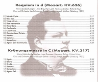 Requiem;  Kronungsmesse    (Messner)    (Truesound 3022)
