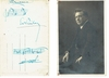 Risler, Edouard.  1 signed photo postcard with musical inscription, Kachaoux-Mayer Lang, 1 signed and inscribed postcard with sketch of de Cast�ra? 5.5x3.5.