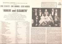 Robert and Elizabeth    (EMI CSD 1575)      Original London cast LP