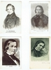 Schumann, Robert. 1 mounted sepia photo 4x5.765 / 6 photo postcards including 2 cards from A.N. Paris 3.5x5.5