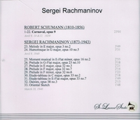 Sergei Rachmaninoff, Vol. I     (St Laurent Studio YSL 78-019)