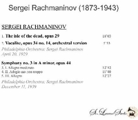 Sergei Rachmaninoff, Vol. VI   (St Laurent Studio YSL 78-235)