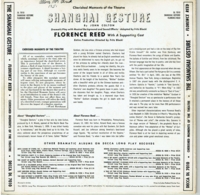 "Shanghai Gesture     (Florence Reed)      (10"" Decca DL 7010)"