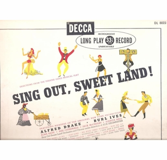Sing Out, Sweet Land (Drake) (Decca DL 8023) Original