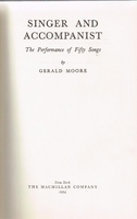 Singer and Accompanist     (Gerald Moore)