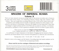 Singers of Imperial Russia, Vol. II     (3-Pearl 9001-3)