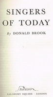 Singers of Today    (Donald Brook)
