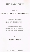 Smith  -  Voices of the Past, Vol.V  -  'D' & 'E'  HMV Catalogue