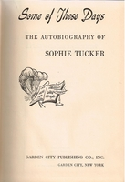 Some of These Days     (Sophie  Tucker)