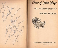 Some of These Days    (SOPHIE  TUCKER)   -  Autographed