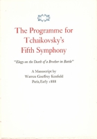 Tchaikovsky's Fifth Symphony  -  Program    (Kenfield)