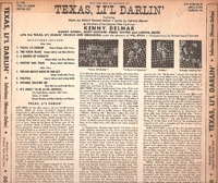 "Texas Li'l Darlin    (10"" Decca DL 5188)    Original Broadway cast LP"