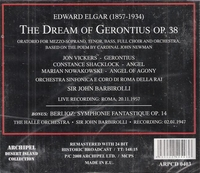 The Dream of Gerontius (Elgar)  (Barbirolli;  Vickers, Shacklock, Nowakowski) (2-Archipel 0403)