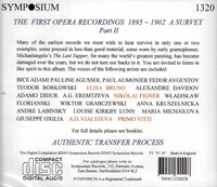 The First Opera Recordings, 1895 – 1902     (Symposium 1320)