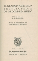 The Gramophone Shop Encyclopedia of Recorded Music, 1936 Edition