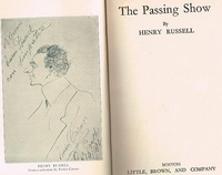 The Passing Show    [Autobiography]     (Henry Russell)