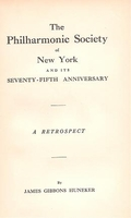 The Philharmonic Society of New York - 75th Anniversary