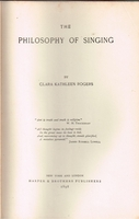 The Philosophy of Singing      (CLARA  ROGERS )