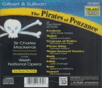 The Pirates of Penzance  (Gilbert & Sullivan)  (Mackerras;  Ainsley, Rebecca Evans, van Allan, Adams)      (Telarc 80353)