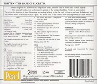 The Rape of Lucretia  (Britten)  (Goodall;  Pears, Ferrier, Cross, Brannigan, Sharp, Kraus)   (2-Pearl 0231)