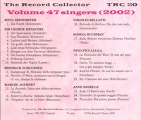 The Record Collector -  2002   (TRC 20)