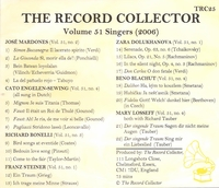 The Record Collector - 2006  (TRC 25)