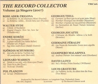 The Record Collector - 2007  (TRC 26)