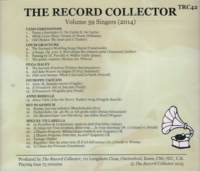 The Record Collector - 2014     (TRC 42)