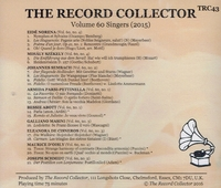 The Record Collector - 2015         (TRC 43)