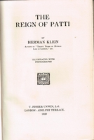 The Reign of Patti        (HERMAN  KLEIN)