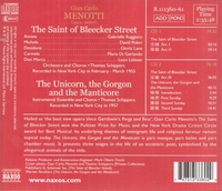 The Saint of Bleecker Street (Menotti)  (Schippers;  Ruggiero, David Poleri, Gloria Lane)  (2-Naxos 8.111360/61)