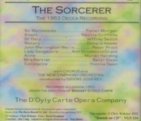 The Sorcerer  (Gilbert & Sullivan)  (D'Oyly Carte;  Morgan,  Griffiths, Skitch, Adams, Drummond-Grant)  ( 2-VGS 234)