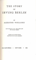 The Story of Irving Berlin   (Woollcott)   (0-306-76145-9)
